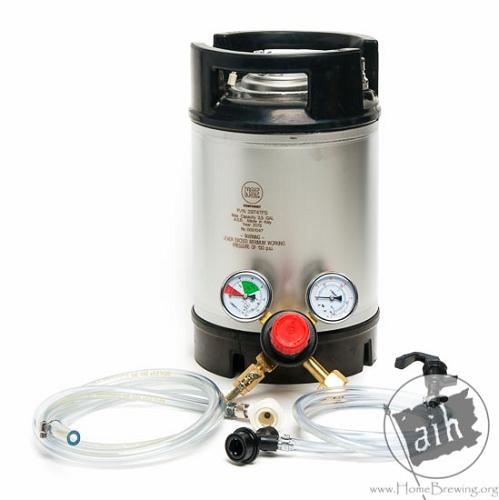 2.5 gallon portable keg system