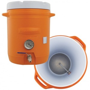 Cooler Mash Tun With Thermometer - 10 Gallon