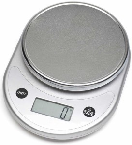 Mosiso - Pro Digital Kitchen Food Scale, 1g to 11 lbs Capacity (Silver)