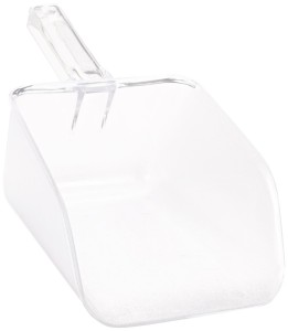 Rubbermaid Commercial FG288600CLR 64-Ounce Clear Bouncer Utility Scoop