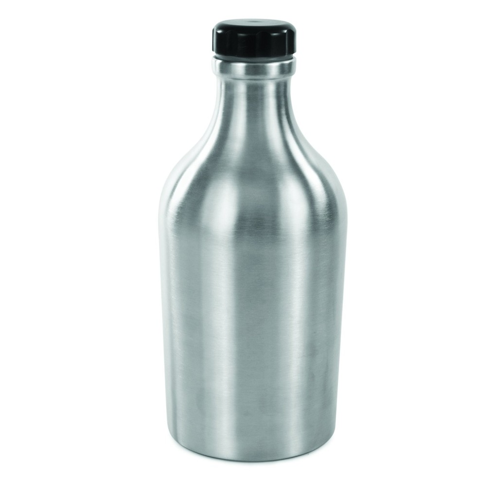 True by True Fabrications Reusable Stainless Steel Grizzly Beer Growler, 64-Ounce, Silver