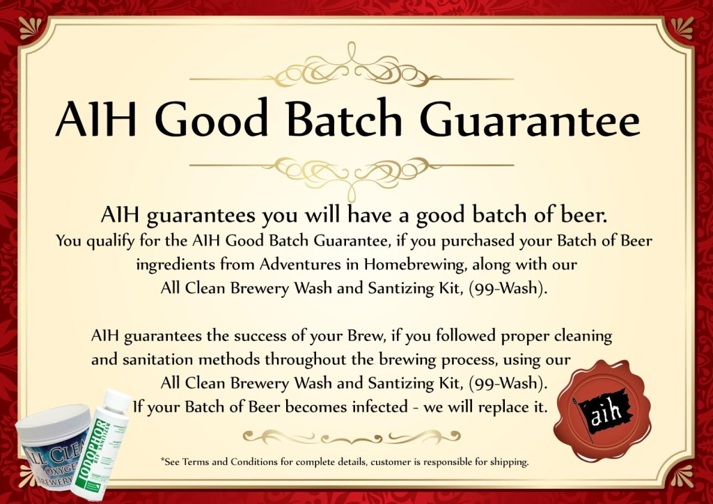 Adventures in Homebrewing Good Batch Guarantee