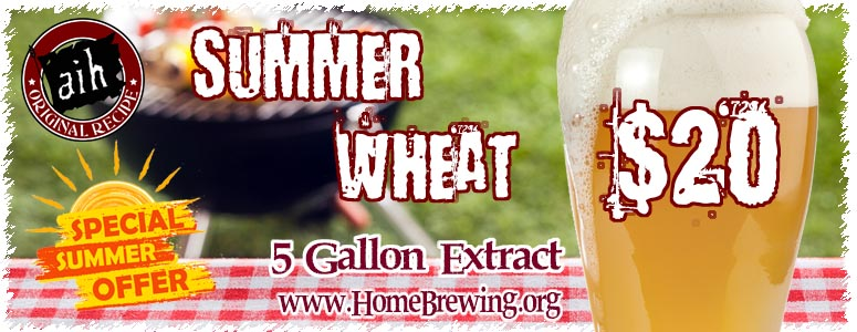 Summer Wheat Beer Special Homebrew Kit