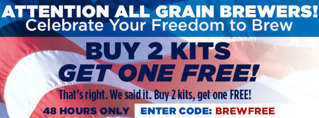 Buy 2 All-Grain Kits Get One Free