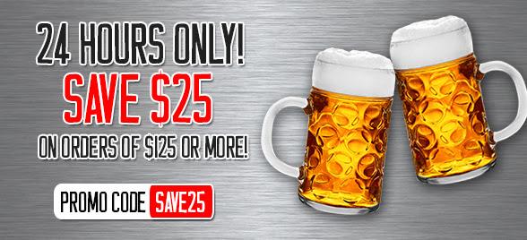 $25 Off $125 at MoreBeer