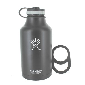 Hydro Flask Insulated Stainless Steel Wide Mouth Water Bottle and Beer Growler, 64-ounce Bundle with Juglug