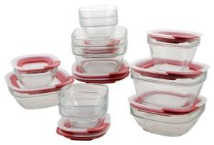 Rubbermaid Easy Find Lid Glass Food Storage Set, 22-piece