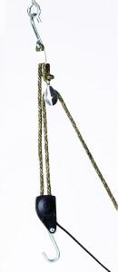 "Ratchet Pulley Metal Gear - 3/8"" Rope - 250 lbs Capacity"