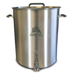 AMCYL Stainless Brew Pot with 1/2 in. Ball Valve