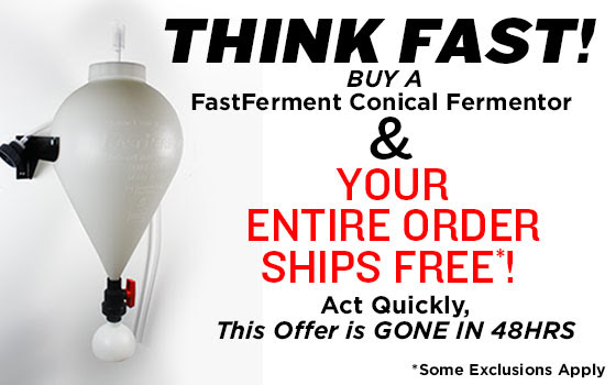 Free Shipping with Purchase of FastFerment Conical Fermenter