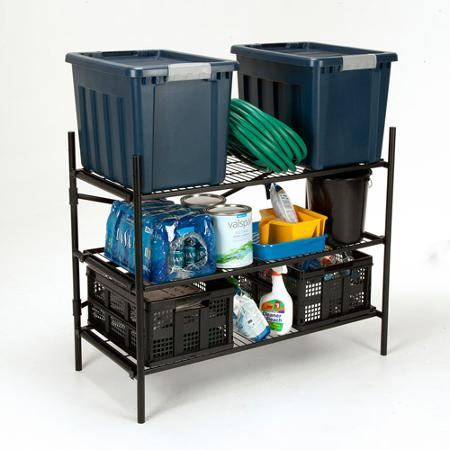 Cosco Stackable 3-Shelf Folding Instant Storage Unit