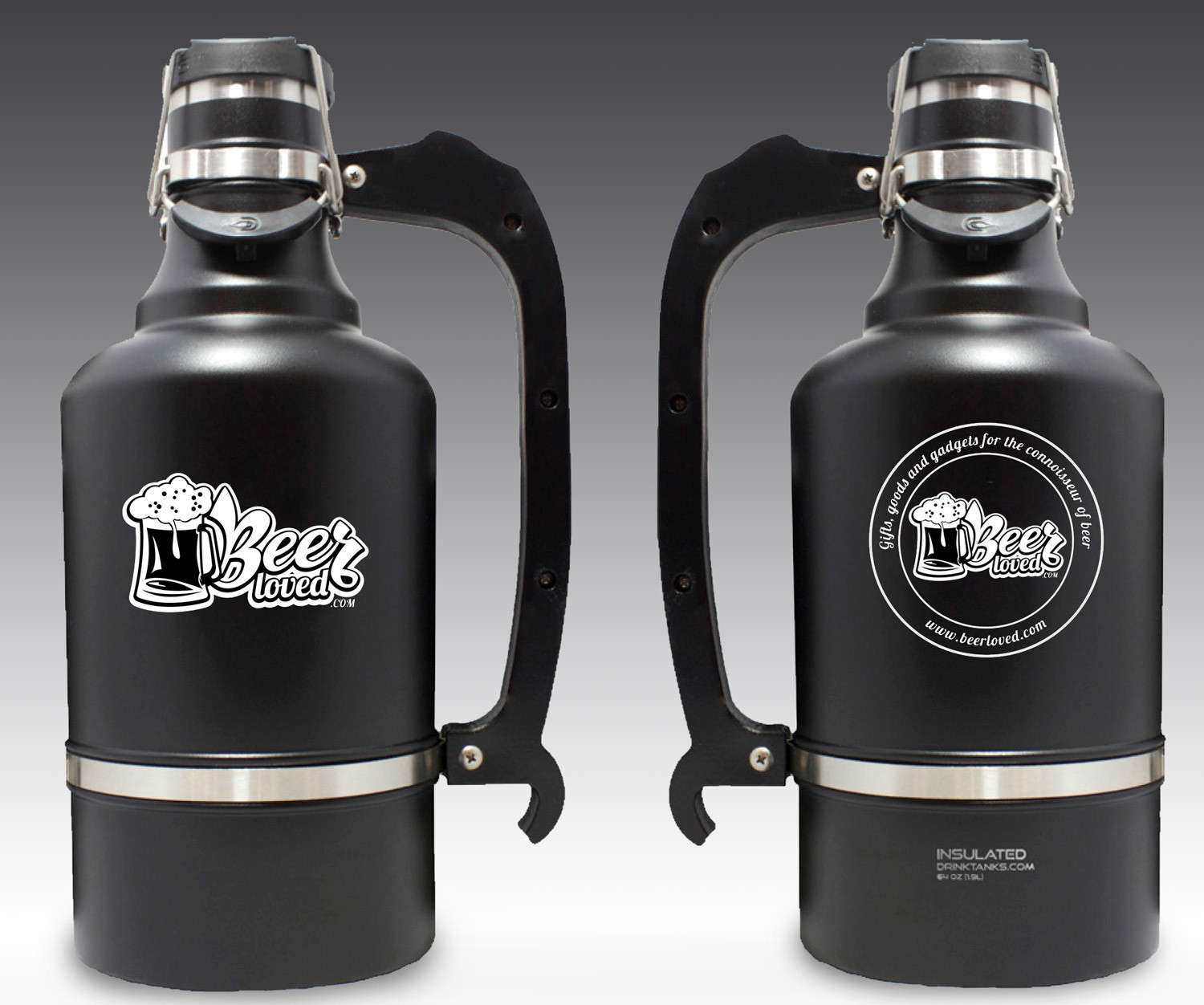 BEERLOVED/DRINKTANKS JUGGERNAUT 128OZ GROWLER W/REGULAR BPA FREE CAP