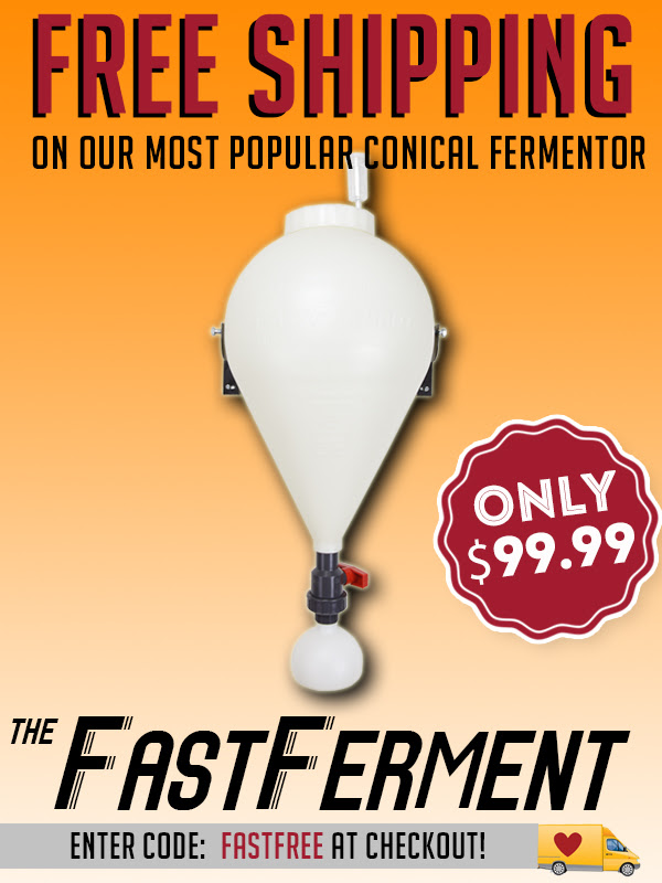 Free Shipping FastFerment Conicals