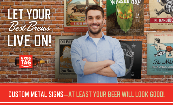 Custom Metal Homebrew Signs