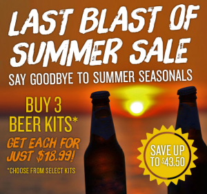 summer seasonal homebrew kit sale