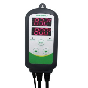 Inkbird Itc-308 Digital Temperature Controller Outlet Thermostat, 2-stage, 1000w, w/ Sensor