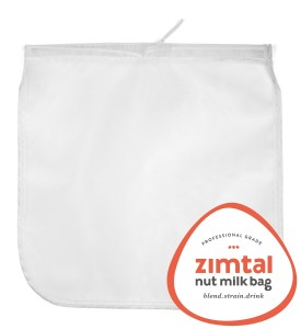 """Premium Quality - Almond Milk Bag - XL - 13 """" X 13 """" - Smoothie Strainer - Food Strainer - Cold Brew Coffee Maker- Free Recipes Included - Reusable - Filter Bag - Strainer Fine Mesh - Professional Industry - Largest on Amazon - Zimtal"""
