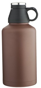 MIRA Beer Growler, Stainless Steel, Insulated (Brown)