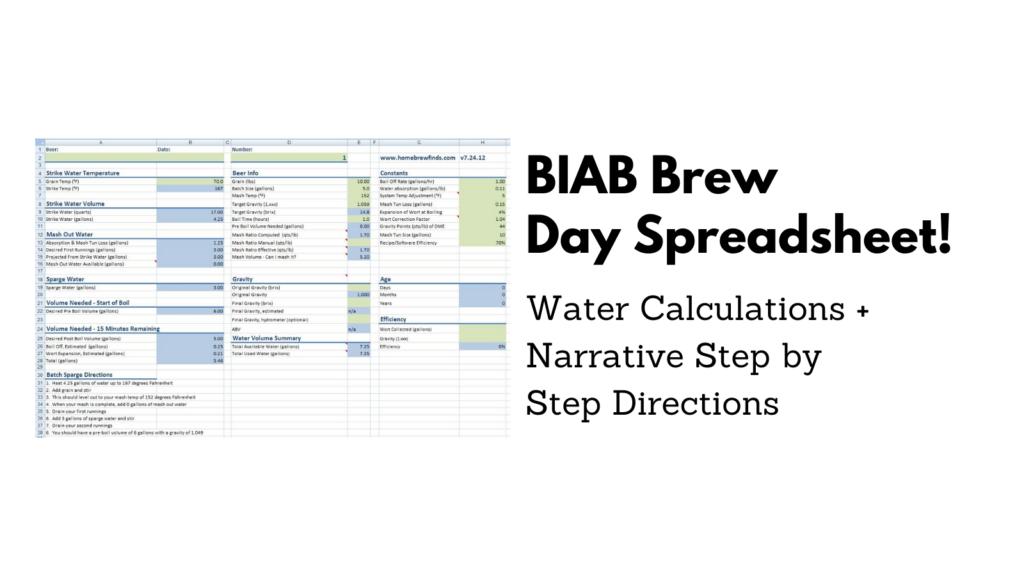 biab homebrew spreadsheet