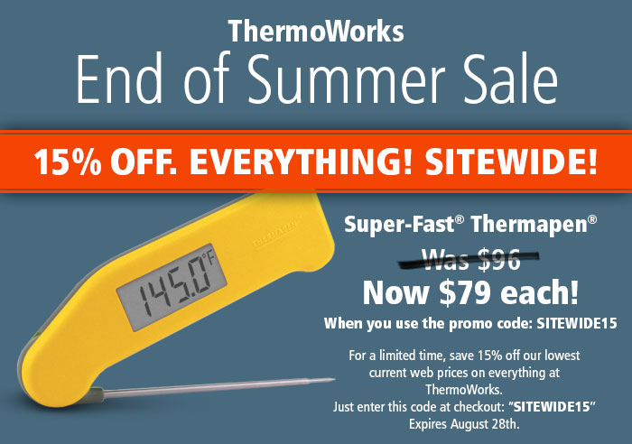 Find the latest 96 ThermoWorks promo codes, coupons, discounts in December Receive $ Off layoffider.ml coupon. loggers, controllers and calibration gear. Their flagship product is the Thermapen, which boasts super fast operation (readings in 3 seconds!), high accuracy rates, water resistance, measurement in both Celsius and.