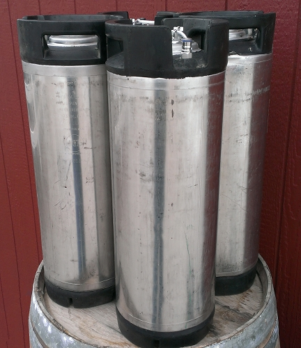 Set of Four 5 Gallon Low-Profile Ball Lock Kegs
