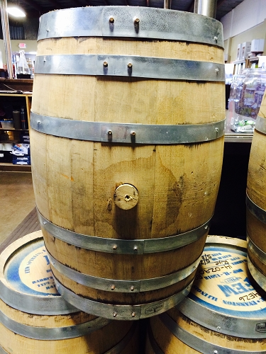 Used 15 gallon Whiskey Barrel