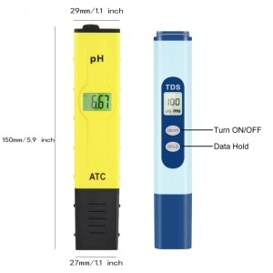 Ph & TDS Meter Set, Combo of ±0.1ph High Accuracy Ph Meter and ±2% Readout Accuracy TDS Meter