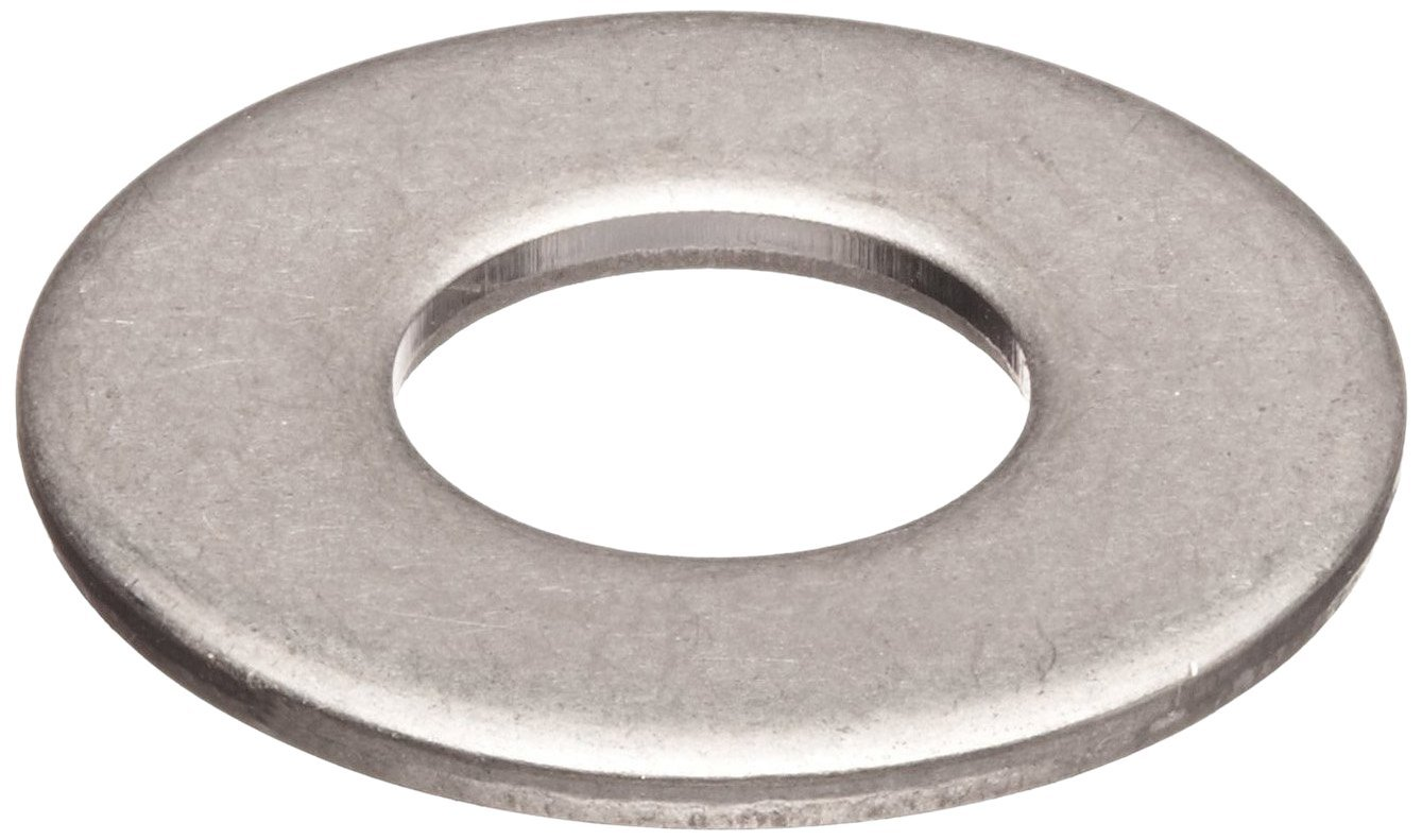 """316 Stainless Steel Flat Washer, Plain Finish, 7/8"""" Hole Size, 15/16"""" ID, 2"""" OD, 0.11"""" Nominal Thickness (Pack of 5)"""