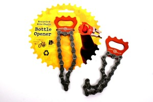Recycled Bicycle Chain Bottle Opener