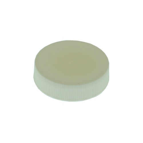 863250 - 38mm Screw Caps - White Plastic - 25 pack