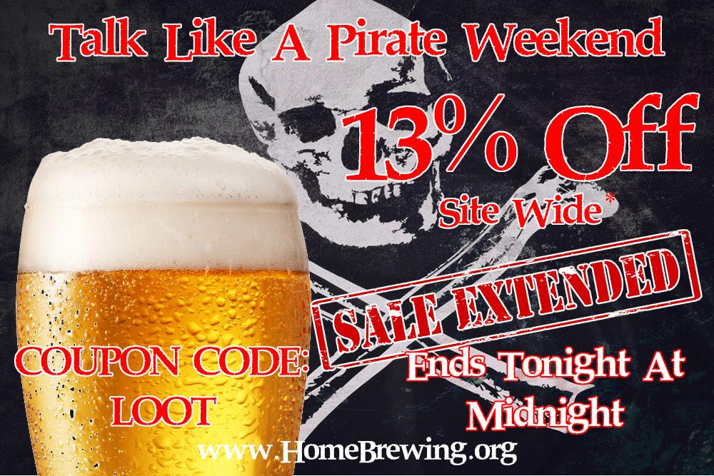 adventures in homebrewing pirate sale