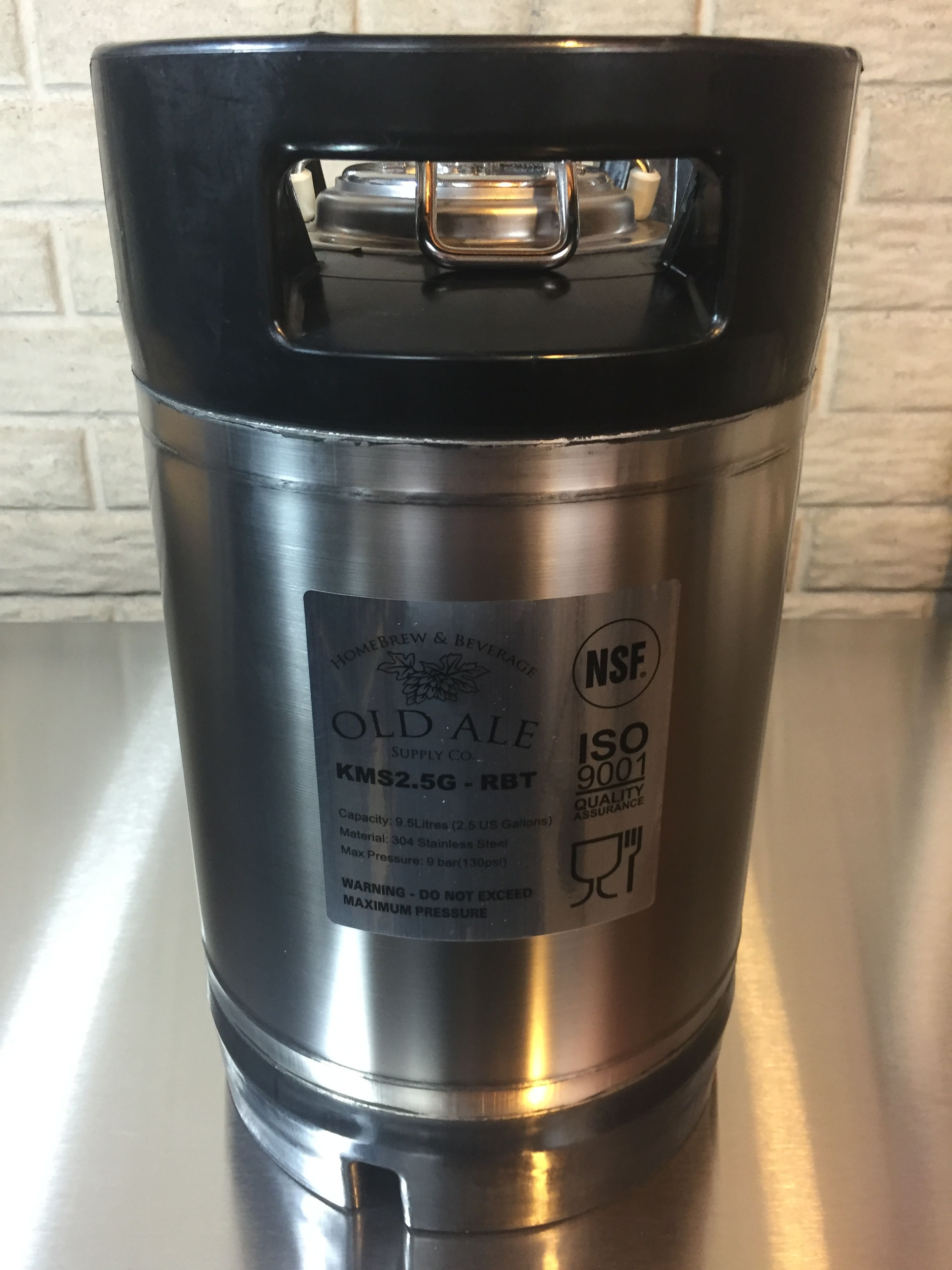 aih 2.5 gallon keg