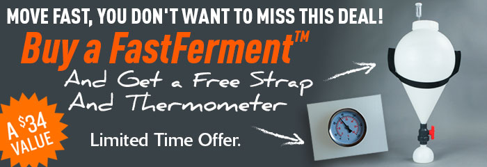Get a Dial Thermometer and Strap with Every FastFerment!