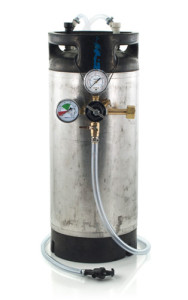 5 Gallon Low Profile Keg System w/ Picnic Tap, USED Ball Lock Keg (#1)