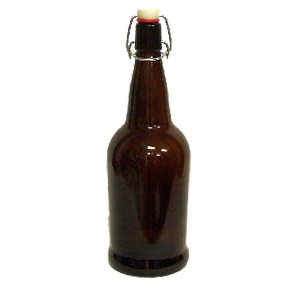 CASE OF 12 - 16 oz. EZ Cap Beer Bottles - AMBER