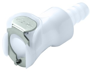 "Colder PLCD17004 Acetal Tube Fitting, Coupler, Shutoff, In-Line, 1/4"" Flow Coupler x 1/4"" Barb"