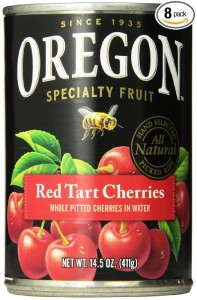 Oregon Fruit Pitted Red Tart Cherries in Water, 14.5-Ounce Cans (Pack of 8)