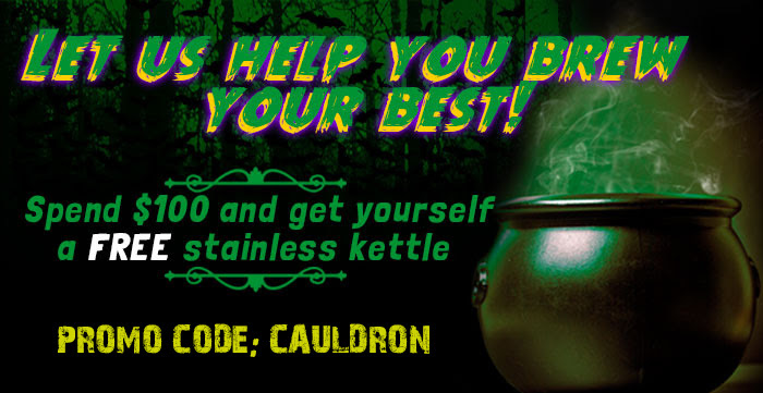 Spend $100, Get a FREE 5 Gallon Stainless Kettle