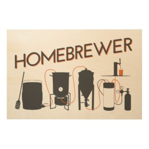 Homebrewer - Grain to Glass Wood Wall Art
