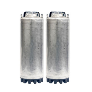 2 Pack - 5 Gallon Single Handle Ball Lock Kegs Reconditioned FREE SHIPPING