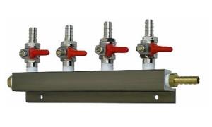 """Air Distributor 5/16"""", CO2 Manifold (Select 2 , 3 or 4 Way) (4 Way)"""