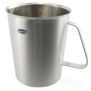 Measuring Cup, Newness Stainless Steel Measuring Cup with Marking with Handle, 64 Ounces (2.0 Liter, 8 Cup)