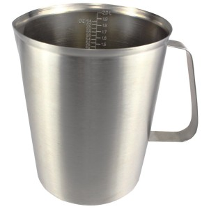 Newness Stainless Steel Measuring Cup with Marking with Handle, 64 Ounces (2.0 Liter, 8 Cup)