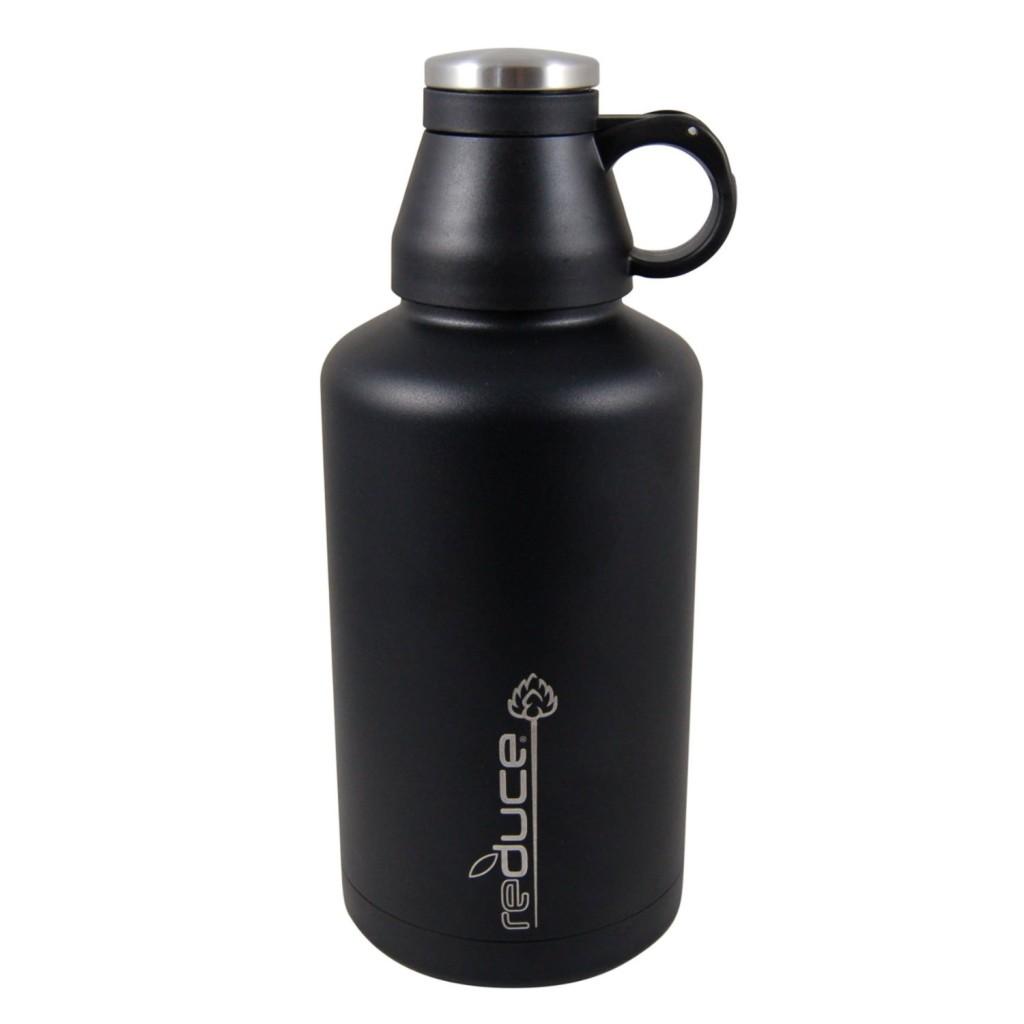 Reduce Vacuum Beer Growler, 64-Ounce, Black