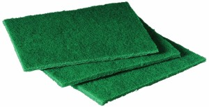 "Scotch-Brite 105 General Purpose Scouring Pad, 6"" Length x 4-1/2"" Width, Green (Case of 40)"