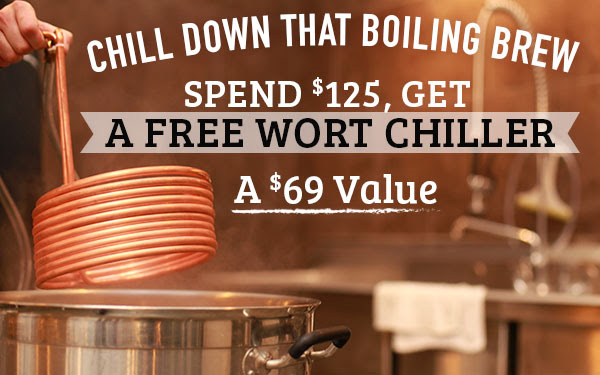 Free Wort Chiller With 125 Purchase At Midwest Supplies
