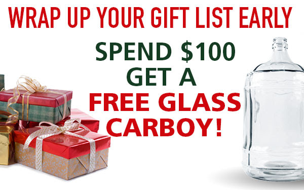 Free Carboy with Orders Over $100!