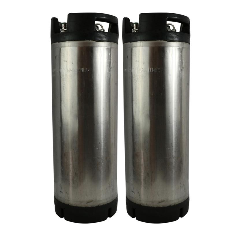 Refurbished 5 Gallon Ball Lock Keg w/ Rubber Handles - Two Pack