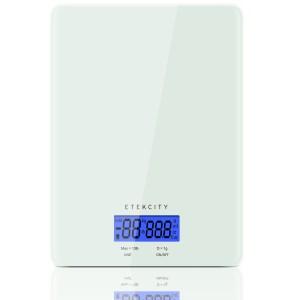 Etekcity 13lb/6kg Digital Kitchen Food Scale, Tempered Glass Design, Volume Measurement Supported