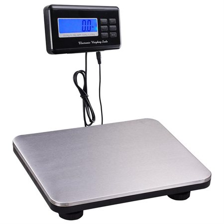 660lbs Digital LCD Display Postal Shipping Pet Floor Platform Industrial Scale 300KG Weighing